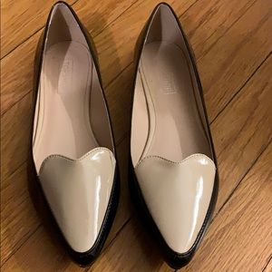 Topshop Patent Leather scalloped Flats